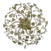 Crystorama 4840-CT Josie 5 Light 21 inch Champagne Green Tea Semi Flush Mount Ceiling Light alternative photo thumbnail