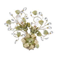 Crystorama Josie 2 Light Wall Sconce in Champagne Green Tea 4842-CT