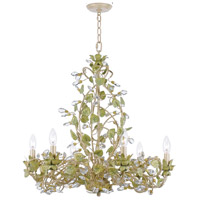 Josie 6 Light 25 inch Champagne Green Tea Chandelier Ceiling Light in Hand Cut, Champagne Green Tea (CT)