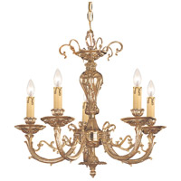 Crystorama 485-OB Etta 5 Light 20 inch Olde Brass Mini Chandelier Ceiling Light