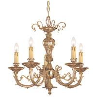 Crystorama 485-OB Etta 5 Light 20 inch Olde Brass Mini Chandelier Ceiling Light