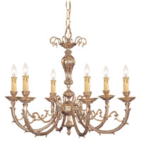 Etta 6 Light 28 inch Olde Brass Chandelier Ceiling Light in Olde Brass (OB)