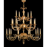 Etta 25 Light 48 inch Olde Brass Chandelier Ceiling Light in Olde Brass (OB)