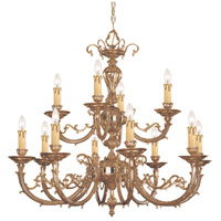 Etta 12 Light 32 inch Olde Brass Chandelier Ceiling Light in Olde Brass (OB)