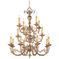 Crystorama 490-OB Etta 16 Light 36 inch Olde Brass Chandelier Ceiling Light