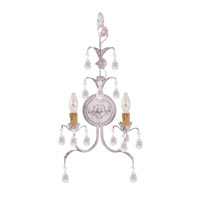 Crystorama 4902-AW Athena 2 Light 12 inch Antique White Wall Sconce Wall Light