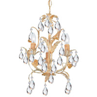 Crystorama 4903-CM Athena 3 Light 13 inch Champagne Mini Chandelier Ceiling Light in Champagne (CM) photo thumbnail