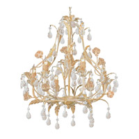 Crystorama Athena 6 Light Chandelier in Champagne with Venetian Crystals 4906-CM