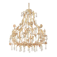 Crystorama Athena 8 Light Chandelier in Champagne with Venetian Crystals 4908-CM
