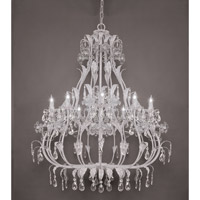 Crystorama Paris Flea Market 10 Light Chandelier in Antique White 4909-AW