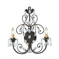 Crystorama Victoria 2 Light Wall Sconce in Dark Rust 4922-DR
