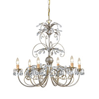 Crystorama Victoria 6 Light Chandelier in Silver Leaf 4926-SL