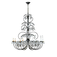Crystorama Victoria 8 Light Chandelier in Dark Rust 4928-DR
