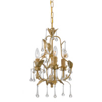 Crystorama Paris Flea Market 3 Light Mini Chandelier in Champagne 4933-CM