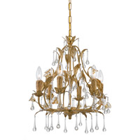 Crystorama Paris Flea Market 6 Light Mini Chandelier in Champagne 4936-CM
