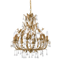 Crystorama Paris Flea Market 8 Light Chandelier in Champagne 4938-CM