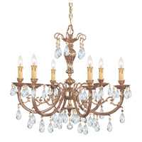 Etta 6 Light 28 inch Olde Brass Chandelier Ceiling Light in Hand Cut