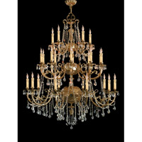 Etta 25 Light 48 inch Olde Brass Chandelier Ceiling Light in Hand Cut