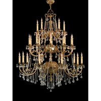 Etta 25 Light 48 inch Olde Brass Chandelier Ceiling Light in Swarovski Elements (S)