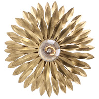 Crystorama Broche 1 Light Flush Mount in Antique Gold 500-GA