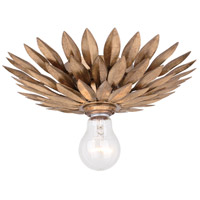 Broche 1 Light 11 inch Antique Gold Semi Flush Mount Ceiling Light in Antique Gold (GA)