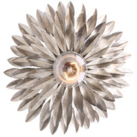 Crystorama Broche 1 Light Wall Sconce in Antique Silver 500-SA