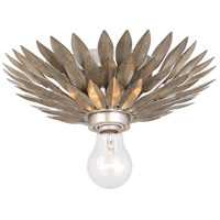 Broche 1 Light 11 inch Antique Silver Flush Mount Ceiling Light in Antique Silver (SA)