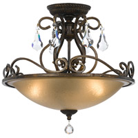 Crystorama 5010-EB-CL-MWP Ashton 3 Light 17 inch English Bronze Flush Mount Ceiling Light in English Bronze (EB)