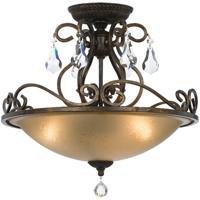 Crystorama 5010-EB-CL-S Ashton 3 Light 17 inch English Bronze Flush Mount Ceiling Light