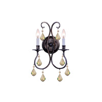 Crystorama Ashton 2 Light Wall Sconce in English Bronze 5012-EB-GT-MWP