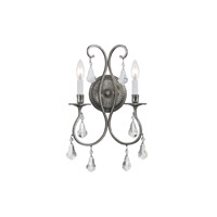Crystorama Ashton 2 Light Wall Sconce in Olde Silver 5012-OS-CL-SAQ