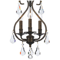 Crystorama 5013-EB-CL-MWP Ashton 3 Light 10 inch English Bronze Mini Chandelier Ceiling Light in English Bronze (EB) alternative photo thumbnail