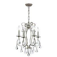 Crystorama 5014-OS-CL-MWP Ashton 4 Light 16 inch Olde Silver Mini Chandelier Ceiling Light in Olde Silver (OS) alternative photo thumbnail