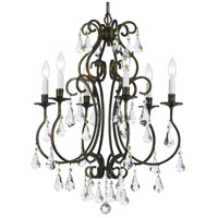 Crystorama Ashton 6 Light Chandelier in English Bronze with Hand Cut Crystals 5016-EB-CL-MWP