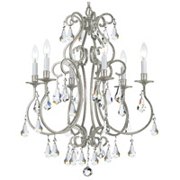 Crystorama 5016-OS-CL-MWP Ashton 6 Light 22 inch Olde Silver Chandelier Ceiling Light in Olde Silver (OS)