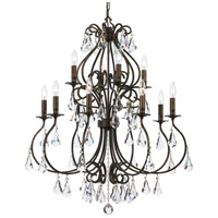 Crystorama 5017-EB-CL-MWP Ashton 12 Light 32 inch English Bronze Chandelier Ceiling Light in English Bronze (EB)