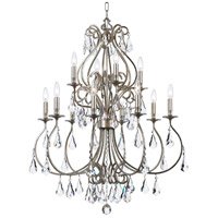 Crystorama 5017-OS-CL-MWP Ashton 12 Light 32 inch Olde Silver Chandelier Ceiling Light in Olde Silver (OS)