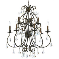 Crystorama Ashton 9 Light Chandelier in English Bronze with Hand Cut Crystals 5019-EB-CL-MWP