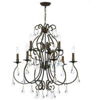 Crystorama 5019-EB-CL-S Ashton 9 Light 26 inch English Bronze Chandelier Ceiling Light