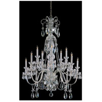 Crystorama Traditional Crystal 10 Light Chandelier in Polished Chrome 5020-CH-CL-MWP