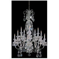 Crystorama Traditional Crystal 10 Light Chandelier in Polished Chrome 5020-CH-CL-S