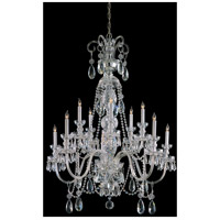 Crystorama Traditional Crystal 10 Light Chandelier in Polished Chrome with Swarovski Spectra Crystals 5020-CH-CL-SAQ