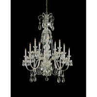 Traditional Crystal 10 Light 36 inch Polished Brass Chandelier Ceiling Light in Polished Brass (PB), Clear Swarovski Strass