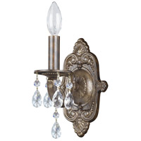 Crystorama Paris Market 1 Light Wall Sconce in Venetian Bronze, Clear Crystal, Hand Cut 5021-VB-CL-MWP