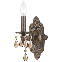 Crystorama Sutton 1 Light Wall Sconce in Venetian Bronze with Swarovski Elements Crystals 5021-VB-GTS