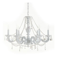 Crystorama Paris Flea Market 6 Light Chandelier in Wet White 5026-WW-CL-MWP