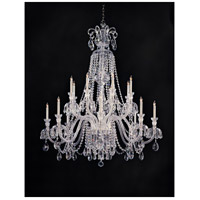 Crystorama Traditional Crystal 16 Light Chandelier in Polished Chrome with Hand Polished Crystals 5028-CH-CL-MWP