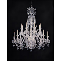 Crystorama Traditional Crystal 16 Light Chandelier in Polished Chrome 5028-CH-CL-S