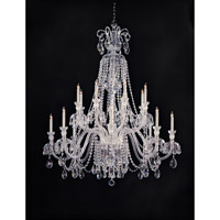 Crystorama Traditional Crystal 16 Light Chandelier in Polished Chrome 5028-CH-CL-SAQ