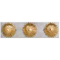 Crystorama 503-GA-SA Broche 3 Light 18 inch Antique Gold and Antique Silver Bathroom Vanity Wall Light